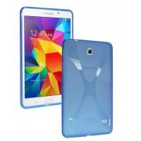 Силиконовый чехол X для Samsung Galaxy Tab 4 8.0 Голубой