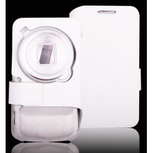 Чехол флип с отделением для карт и магнитной застежкой Samsung Galaxy S4 Zoom Белый