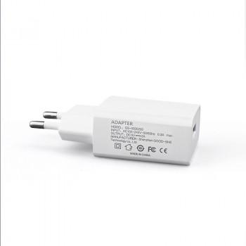 Универсальное сетевое зарядное устройство 220В 50-60Гц/USB 5В 2000мА Белый