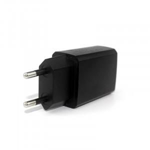 Универсальное сетевое зарядное устройство 220В 50-60Гц/USB 5В 2000мА Черный