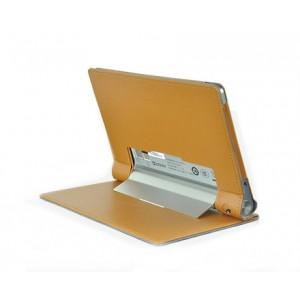 Чехол подставка с защитной крышкой для Lenovo Yoga Tablet 8 Коричневый