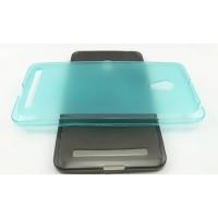 Полупрозрачный силиконовый чехол для ASUS Zenfone 5 (A502CG) Голубой