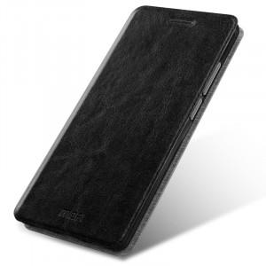 Глянцевый водоотталкивающий чехол флип подставка на силиконовой основе для Asus ZenFone 3 Черный