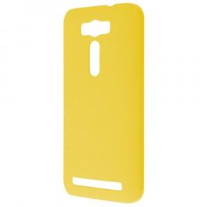 Пластиковый матовый непрозрачный чехол для ASUS Zenfone 2 Laser 5 ZE500KL Желтый