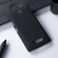 Пластиковый матовый непрозрачный чехол для Lenovo A2010 Черный