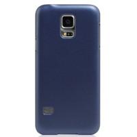Пластиковый матовый металлик чехол для Samsung Galaxy S5 Mini Синий