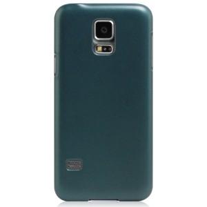 Пластиковый матовый металлик чехол для Samsung Galaxy S5 Mini Зеленый