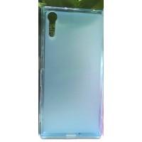 Силиконовый матовый полупрозрачный чехол для Sony Xperia XZ/XZs Голубой