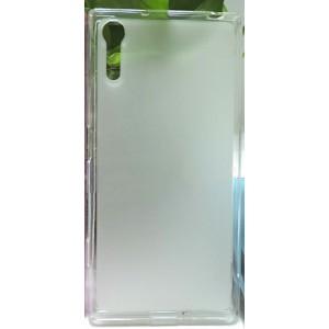 Силиконовый матовый полупрозрачный чехол для Sony Xperia XZ/XZs Белый