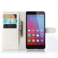 Чехол портмоне подставка на силиконовой основе на магнитной защелке для Huawei Honor 5X Белый