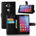 Чехол портмоне подставка на пластиковой основе на магнитной защелке для Huawei Honor 5X