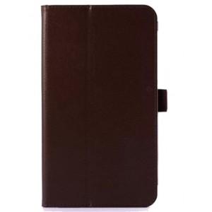 Чехол подставка с рамочной защитой серия Full Cover для Asus FonePad 8 Коричневый