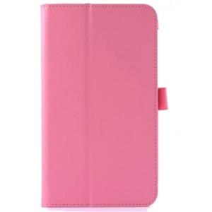 Чехол подставка с рамочной защитой серия Full Cover для Asus FonePad 8 Розовый