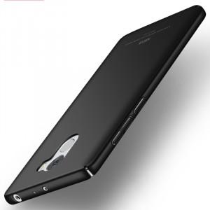 Пластиковый непрозрачный матовый чехол с улучшенной защитой элементов корпуса для Xiaomi RedMi 4 Черный