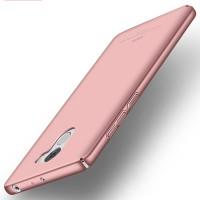 Пластиковый непрозрачный матовый чехол с улучшенной защитой элементов корпуса для Xiaomi RedMi 4 Розовый