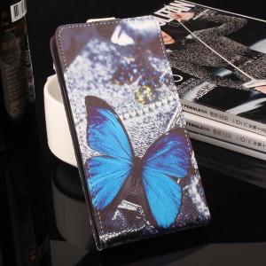 Чехол вертикальная книжка на силиконовой основе с отсеком для карт и полноповерхностным принтом на магнитной защелке для ASUS ZenFone 3 Max ZC553KL
