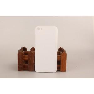 Пластиковый матовый непрозрачный чехол для Xiaomi MI5 Белый