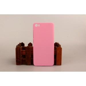 Пластиковый матовый непрозрачный чехол для Xiaomi MI5 Розовый