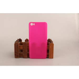 Пластиковый матовый непрозрачный чехол для Xiaomi MI5 Пурпурный