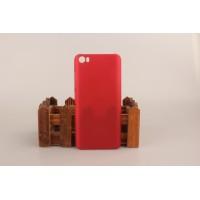 Пластиковый матовый непрозрачный чехол для Xiaomi MI5 Красный