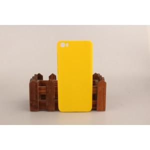 Пластиковый матовый непрозрачный чехол для Xiaomi MI5 Желтый
