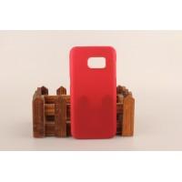 Пластиковый матовый непрозрачный чехол для Samsung Galaxy S7 Красный
