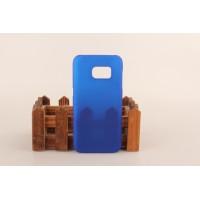 Пластиковый матовый непрозрачный чехол для Samsung Galaxy S7 Синий