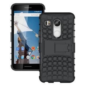 Антиударный силиконовый чехол экстрим защита с подставкой для Google LG Nexus 5X