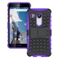 Антиударный силиконовый чехол экстрим защита с подставкой для Google LG Nexus 5X Фиолетовый