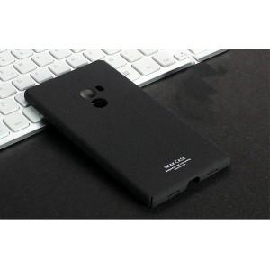 Пластиковый непрозрачный матовый нескользящий премиум чехол с повышенной шероховатостью для Xiaomi Mi Mix Черный