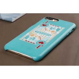 Кожаный чехол накладка (премиум нат. кожа) с принтом для Iphone 7 Plus/8 Plus