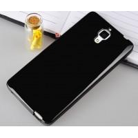 Силиконовый непрозрачный чехол для Xiaomi Mi4 Черный