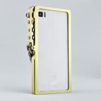 Металлический бампер с крепежным карабином для Xiaomi Mi4 Желтый