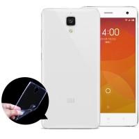 Силиконовый матовый полупрозрачный чехол для Xiaomi Mi4 Белый