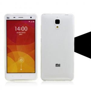 Силиконовый матовый полупрозрачный чехол для Xiaomi Mi4