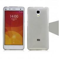 Силиконовый матовый полупрозрачный чехол для Xiaomi Mi4 Серый