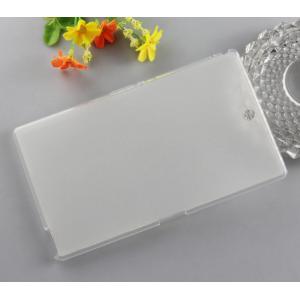 Силиконовый матовый полупрозрачный чехол для Sony Xperia Z3 Tablet Compact Белый