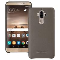 Кожаный чехол накладка (премиум нат. кожа) для Huawei Mate 9 Серый