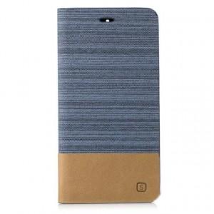 Чехол горизонтальная книжка подставка с тканевым покрытием на силиконовой основе с отсеком для карт для Huawei Mate 9