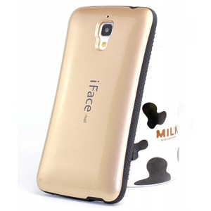 Эргономичный силиконовый чехол повышенной защиты для Xiaomi Mi4 Бежевый