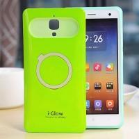 Силиконовый чехол с встроенным кольцом-подставкой для Xiaomi Mi4 Зеленый