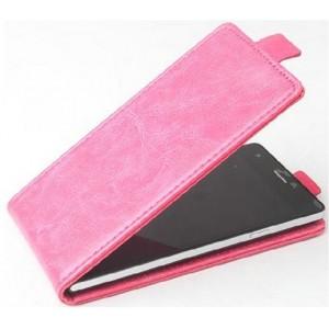 Клеевой чехол вертикальная книжка с магнитной застежкой для Lenovo Vibe S1 Розовый
