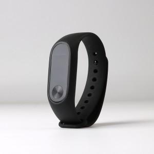 Антискользящий силиконовый гиппоаллергенный чехол для Xiaomi Mi Band 2 Черный