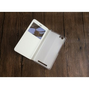 Чехол горизонтальная книжка на пластиковой основе с окном вызова для Highscreen Power Ice Max