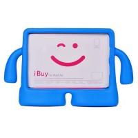 Детский ультразащитный гиппоаллергенный силиконовый фигурный чехол для планшета Ipad Mini 1/2/3 Синий