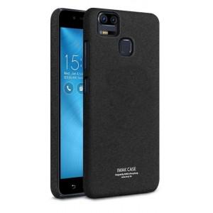 Пластиковый непрозрачный матовый нескользящий премиум чехол с повышенной шероховатостью для Asus ZenFone 3 Zoom Черный