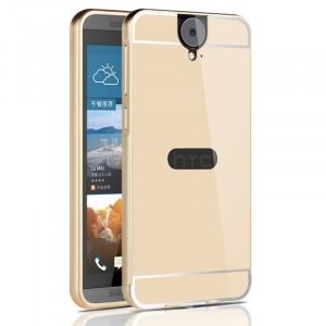 Двухкомпонентный чехол с металлическим бампером и поликарбонатной накладкой с отверстием для лого для HTC One E9+