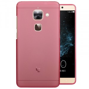 Силиконовый матовый полупрозрачный чехол для LeEco Le 2 Розовый