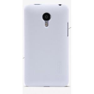 Пластиковый премиум матовый чехол для Meizu MX4 Белый