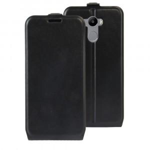 Чехол вертикальная книжка на силиконовой основе с отсеком для карт на магнитной защелке для Xiaomi RedMi 4/4 Pro Черный